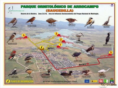 Parque Ornitológico Arrocampo de Saucedilla.